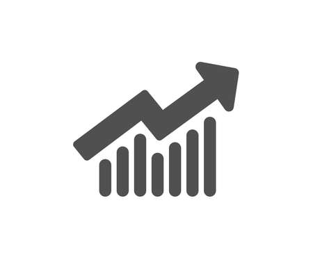 Chart icon. Report graph or Sales growth sign. Analysis and Statistics data symbol. Quality design element. Classic style icon. Vector Ilustração