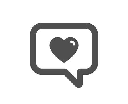Heart in Speech bubble icon. Love chat symbol. Valentines day communication sign. Quality design element. Classic style icon. Vector Иллюстрация