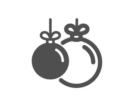 Christmas ball icon. New year tree decoration sign. Quality design element. Classic style icon. Vector