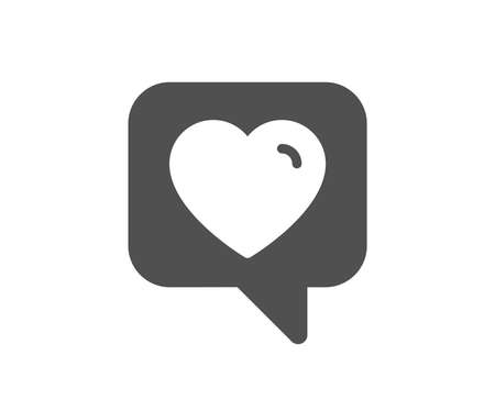Heart icon. Favorite like sign. Positive feedback symbol. Quality design element. Classic style icon. Vector Illustration