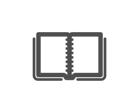 Book icon. Education symbol. Instruction or E-learning sign. Quality design element. Classic style icon. Vector  イラスト・ベクター素材