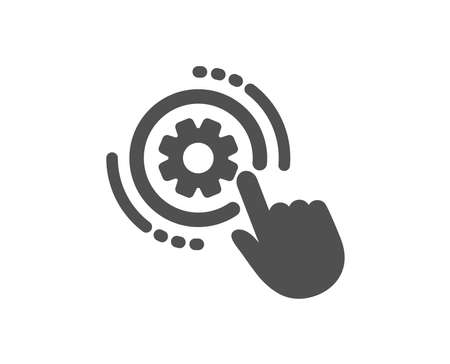 Cogwheel settings icon. Engineering tool sign. Cog gear symbol. Quality design element. Classic style icon. Vector