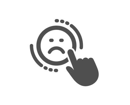 Dislike icon. Negative feedback rating sign. Customer satisfaction symbol. Quality design element. Classic style icon. Vector