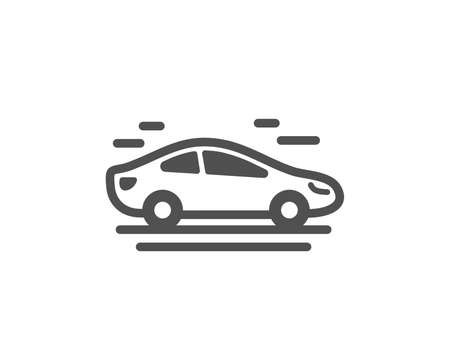 Car transport icon. Transportation vehicle sign. Driving symbol. Quality design element. Classic style icon. Vector 일러스트