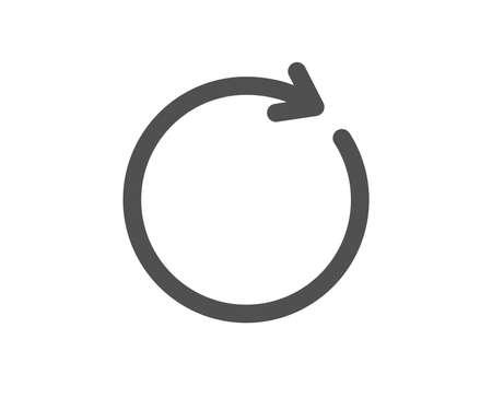 Symbol aktualisieren. Rotationspfeilzeichen. Reset- oder Reload-Symbol. Hochwertiges Gestaltungselement. Symbol im klassischen Stil. Vektor Vektorgrafik
