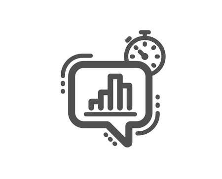 Diagram chart icon. Statistics timer sign. Market analytics symbol. Quality design element. Classic style icon. Vector