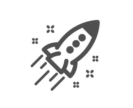 Startup rocket icon. Launch Project sign. Innovation symbol. Quality design element. Classic style icon. Vector