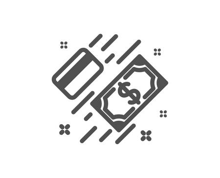 Money icon. Payment methods sign. Credit card symbol. Quality design element. Classic style icon. Vector 向量圖像