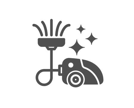 Vacuum cleaner icon. Cleaning service symbol.  Quality design element. Classic style icon. Vector