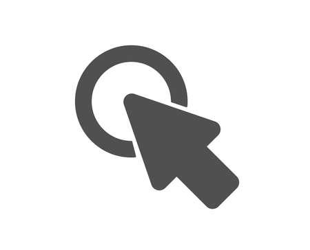 Click here icon. Push the button sign. Web cursor symbol. Quality design element. Classic style icon. Vector