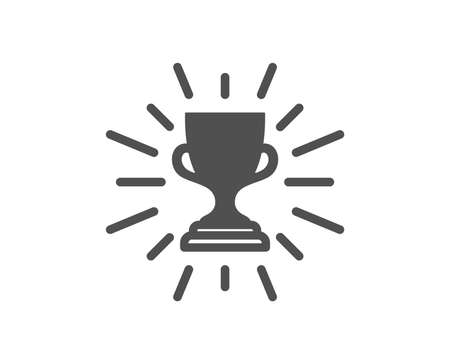 Award cup icon. Winner Trophy symbol. Sports achievement sign. Quality design element. Classic style icon. Vector Çizim