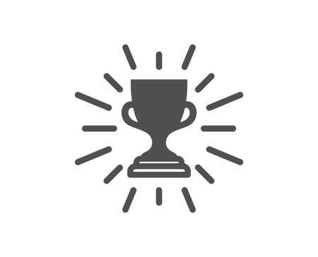 Icône de coupe de récompense. Symbole du trophée du gagnant. Signe de réussite sportive. Élément de conception de qualité. Icône de style classique. Vecteur