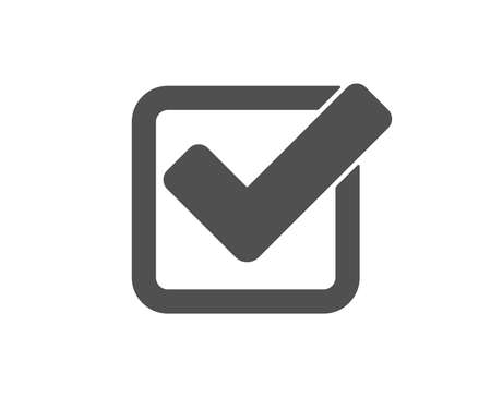 Check icon. Approved Tick sign. Confirm, Done or Accept symbol. Quality design element. Classic style icon. Vector