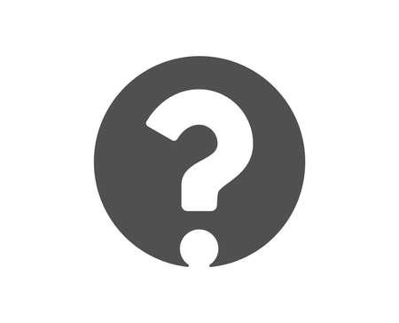 Fragezeichen-Symbol. Hilfezeichen unterstützen. FAQ-Symbol. Hochwertiges Gestaltungselement. Symbol im klassischen Stil. Vektor