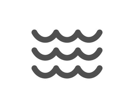 Waves icon. Sea flowing sign. Water symbol. Quality design element. Classic style icon. Vector Ilustracja