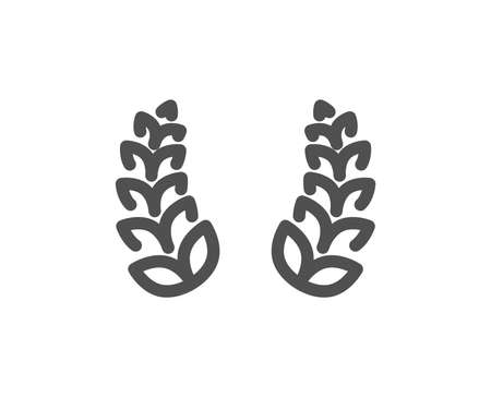 Laurel wreath icon. Reward symbol. Winner award sign. Quality design element. Classic style icon. Vector  イラスト・ベクター素材