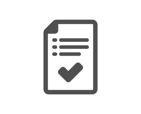 Approved checklist icon. Accepted or confirmed sign. Report symbol. Quality design element. Classic style icon. Vector  イラスト・ベクター素材