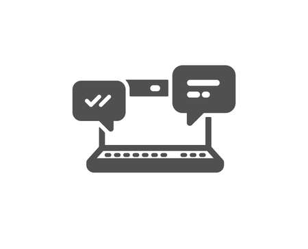 Internet Messages icon.  Chat or Conversation sign. Computer communication symbol. Quality design element. Classic style icon. Vector Stock Illustratie