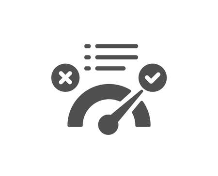 Correct answer icon. Accepted or confirmed sign. Approved symbol. Quality design element. Classic style icon. Vector