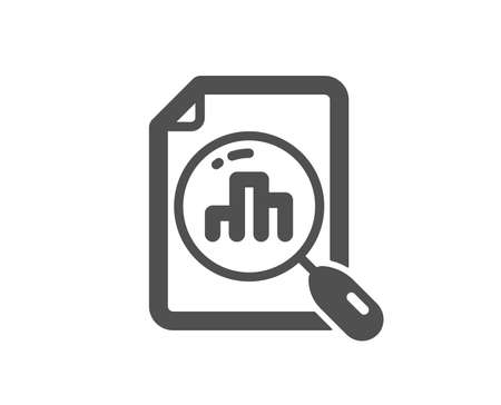 Analytics graph icon. Column chart sign. Growth diagram symbol. Quality design element. Classic style icon. Vector