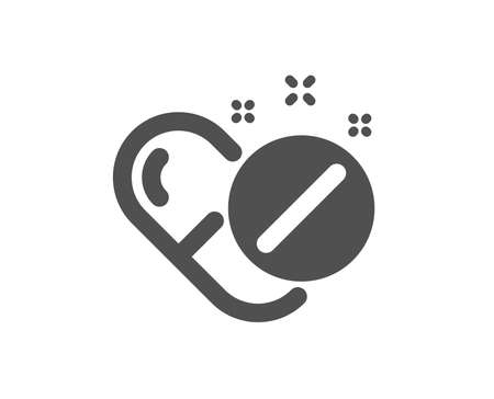 Medical pills icon. Medicine drugs sign. Tablets symbol. Quality design element. Classic style icon. Vector Illustration
