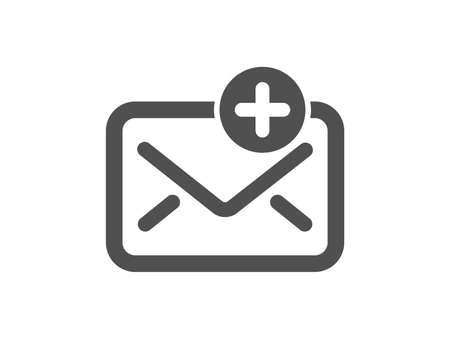 New Mail icon. Add Message correspondence sign. E-mail symbol. Quality design element. Classic style icon. Vector  イラスト・ベクター素材