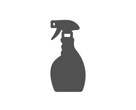 Cleaning spray icon. Washing liquid or Cleanser symbol. Housekeeping equipment sign. Quality design element. Classic style icon. Vector Ilustração