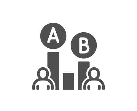 Ab testing icon. Ui test chart sign. Quality design element. Classic style icon. Vector