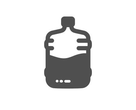 Water cooler bottle icon. Still aqua drink sign. Liquid symbol. Quality design element. Classic style icon. Vector Illustration