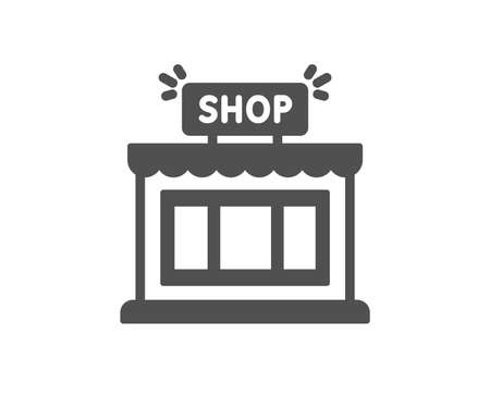 Shop icon. Store symbol. Shopping building sign. Quality design element. Classic style icon. Vector Stockfoto - 116300171