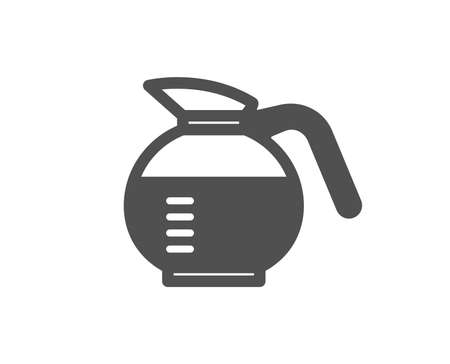 Coffeepot icon. Coffee Hot drink sign. Brewed fresh beverage symbol. Quality design element. Classic style icon. Vector Çizim