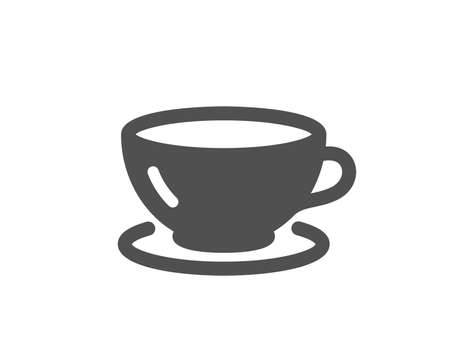 Tea cup icon. Coffee drink sign. Fresh beverage symbol. Quality design element. Classic style icon. Vector
