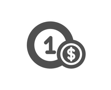 Coins icon. Money sign. Dollar currency symbol. Cash payment method. Quality design element. Classic style icon. Vector