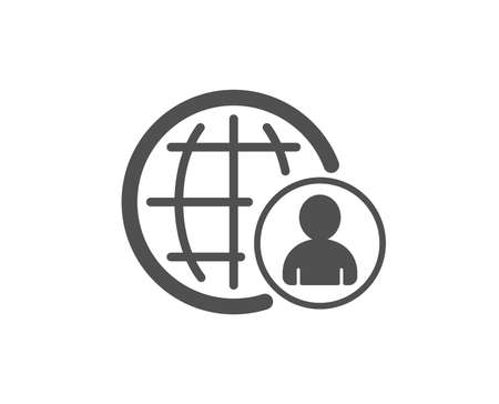 International business recruitment icon. Global human resources sign. Quality design element. Classic style icon. Vector 向量圖像