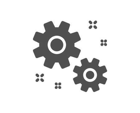Work icon. Business management sign. Cogwheel or gear symbol. Quality design element. Classic style icon. Vector Illustration