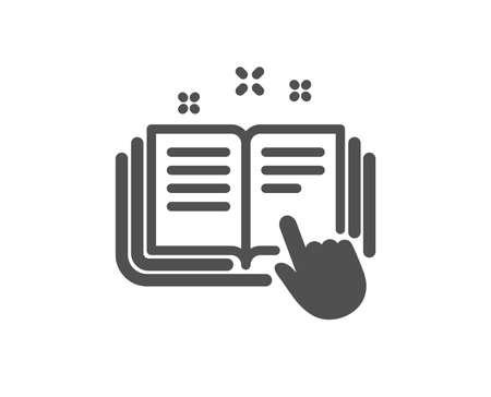 Icono de documentación técnica. Señal de instrucción. Elemento de diseño de calidad. Icono de estilo clásico. Vector