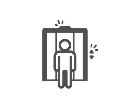 Lift icon. Elevator sign. Transportation between floors symbol. Quality design element. Classic style icon. Vector