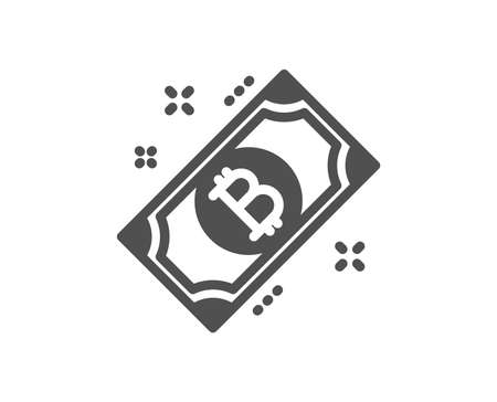 Bitcoin icon. Cryptocurrency cash sign. Crypto money symbol. Quality design element. Classic style icon. Vector