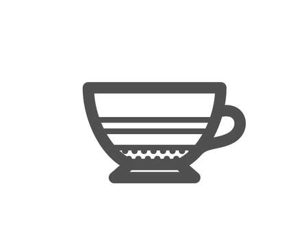 Mocha coffee icon. Hot drink sign. Beverage symbol. Quality design element. Classic style icon. Vector