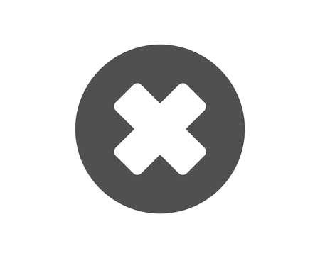 Symbol löschen. Schild entfernen. Abbrechen- oder Schließen-Symbol. Hochwertiges Gestaltungselement. Symbol im klassischen Stil. Vektor