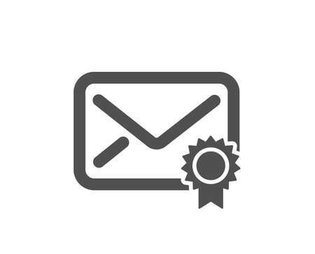 Verified Mail icon. Confirmed Message correspondence sign. E-mail symbol. Quality design element. Classic style icon. Vector