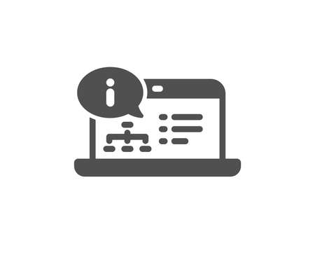 Online documentation icon. Technical instruction sign. Quality design element. Classic style icon. Vector