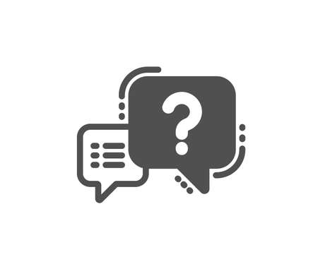 Question mark icon. Quiz chat bubble sign. Quality design element. Classic style icon. Vector