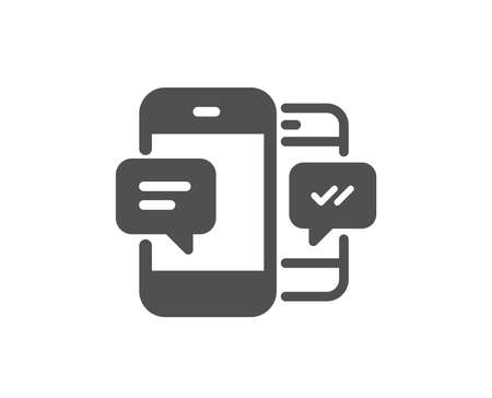 Phone Message icon. Mobile chat sign. Conversation or SMS symbol. Quality design element. Classic style icon. Vector