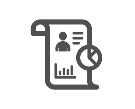 Report icon. Business management sign. Employee statistics symbol. Quality design element. Classic style icon. Vector