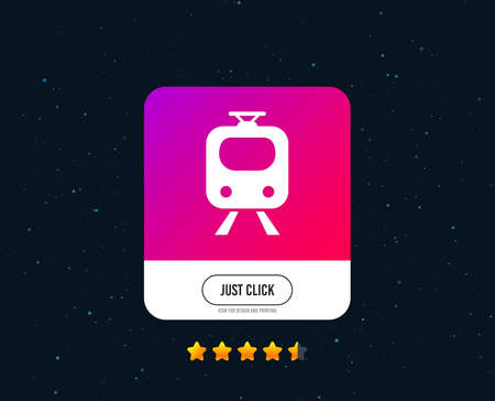 Subway sign icon. Train, underground symbol. Web or internet icon design. Rating stars. Just click button. Vector Illustration