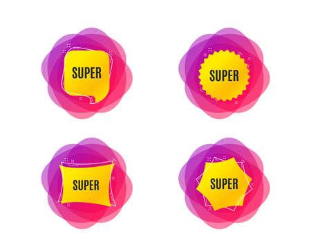 Super symbol. Special offer sign. Best value. Geometric gradient sales shapes. Creative banners. Template for design. Super vector Illustration