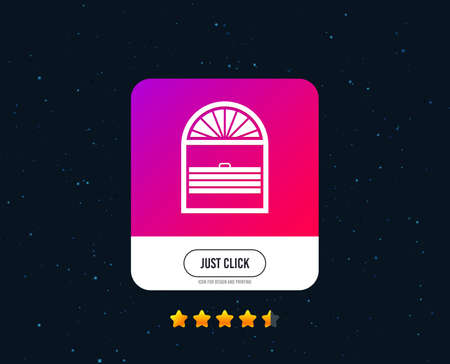 Louvers plisse sign icon. Window blinds or jalousie symbol. Web or internet icon design. Rating stars. Just click button. Vector  イラスト・ベクター素材
