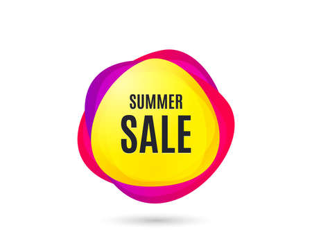 Summer Sale. Special offer price sign. Advertising Discounts symbol. Gradient sales tag. Abstract shopping banner. Template for design. Vector