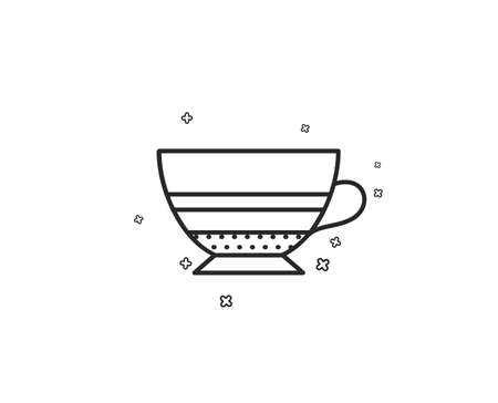 Mocha coffee icon. Hot drink sign. Beverage symbol. Geometric shapes. Random cross elements. Linear Mocha icon design. Vector